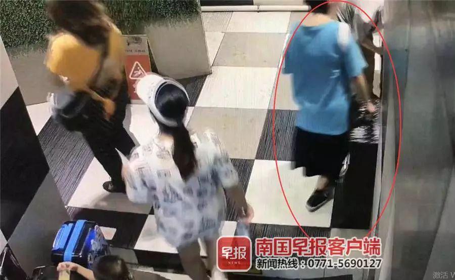 柳州一名男子顺走女生行李箱,临走时还换上女裤掩人耳目