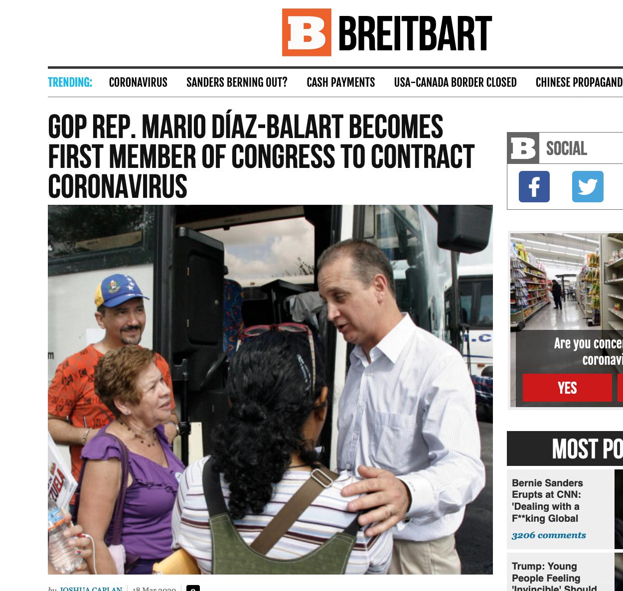美国首位确诊国会议员马里奥·巴拉特个人资料背景